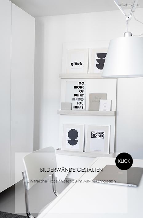 Bilderwand gestalten - fünf Tipps für die Gestaltung deiner Bilderwand findest du im MINIMALmagazin - minimalistisch leben und wohnen