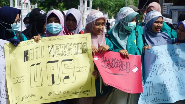 Inilah Ancaman dari Para Peserta Aksi Bela UAS di Aceh