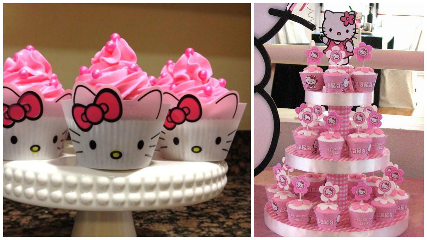 21 ideas de mesa de dulces y decoraci n para una fiesta de - Decoracion hello kitty ...