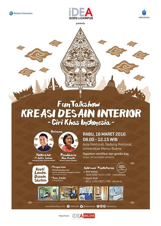 Kreasi desain interior ciri khas indonesia