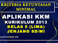 Aplikasi KKM Tematik Kelas 5 Kurikulum 2013 SD/MI Tahun Pelajaran 2020 / 2021