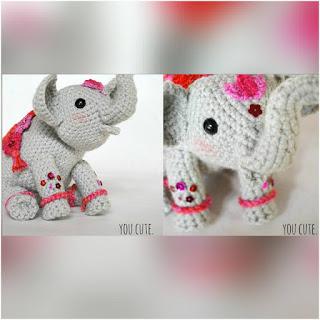 patron amigurumi Elefante indio crochet y amigurumis