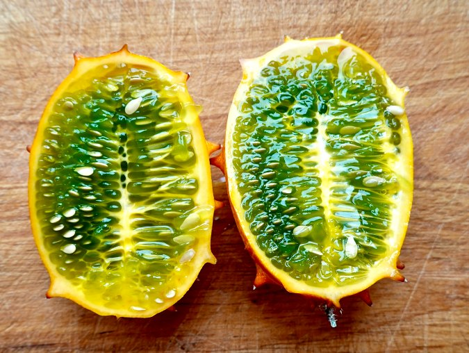 Kiwano melon, sliced