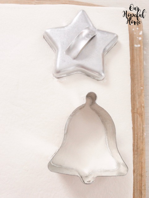 silver star silver bell cookie cutters marshmallow sheet