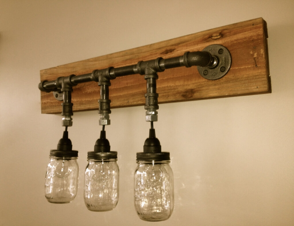 Bathroom Light Fixture With Electrical Outlet