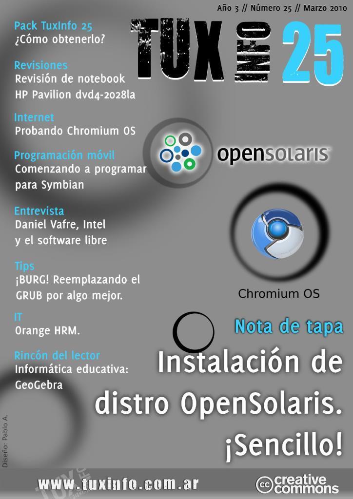TuxInfo Nro. 25 – Instalación de distro OpenSolaris. ¡Sencillo!