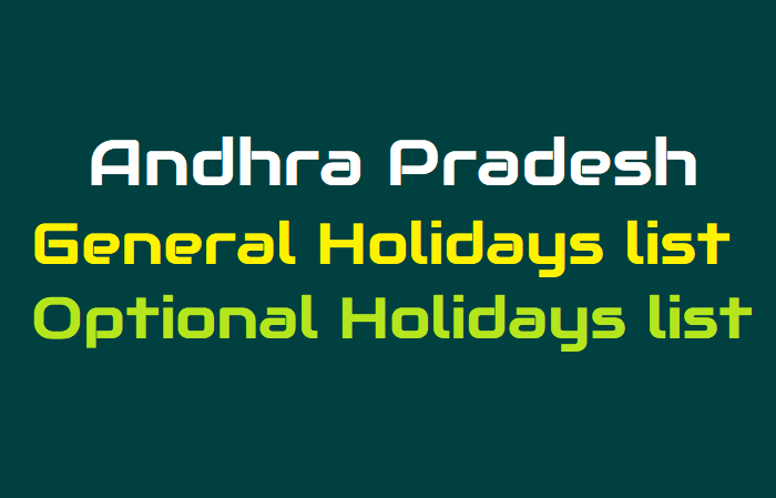 AP General Holidays and Optional Holidays list for 2019