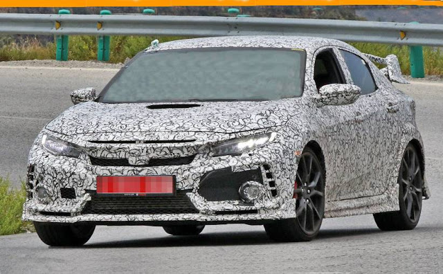 2017 Honda Civic Type R spied