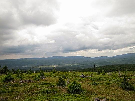 Sine Skałki - panorama na południowy zachód.