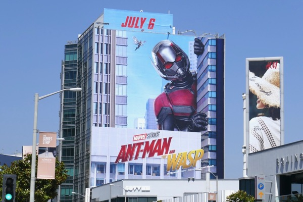Giant Ant-Man and Wasp film billboard