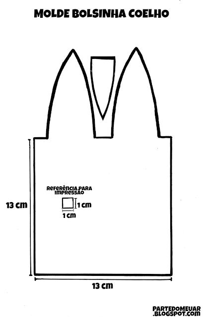 molde sacolinha pascoa