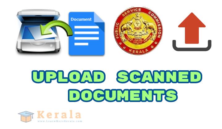 psc upload scanned documents