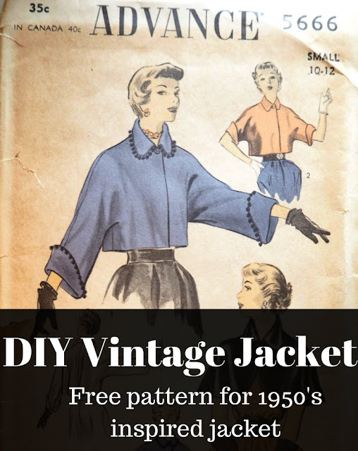 The Vintage Pattern Files: Free 1950s Sewing Pattern - Advance 5666 DIY Vintage Jacket