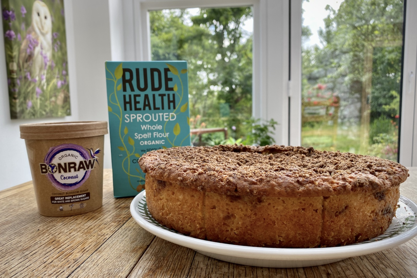 Bonraw Rude Health Apple and Cinnamon Streusel Cake