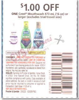scope mouthwash $1 off 1 coupon