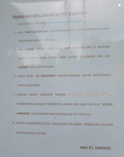 Lowongan kerja PT Ewindo Pabrik Rancaekek Bandung Terbaru 2020