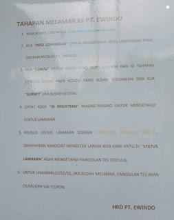 Lowongan kerja PT Ewindo Pabrik Rancaekek Bandung Terbaru 2021