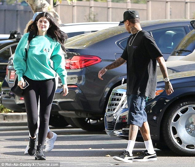 Kylie Jenner and boyfriend Tyga step out with her brand new $200k Maybach