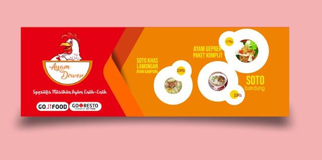 Banner Spanduk Kedai Cafe Makanan Kekinian