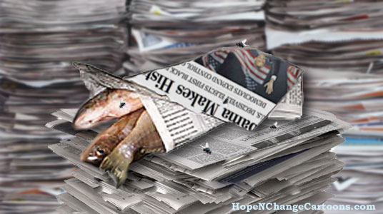 Newspaper industry is dying because of Barack Obama