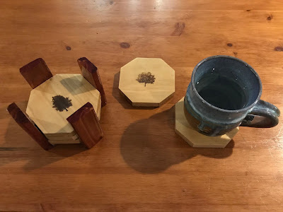 From scrap wood to beautiful coasters