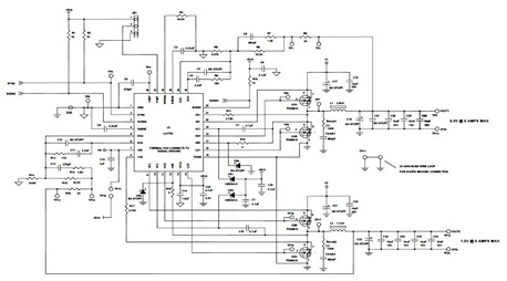 LX1752 PWM Controller Evaluation Board Circuit Diagram