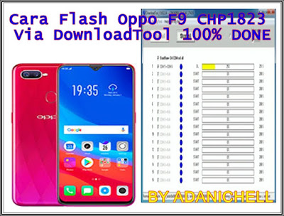Cara Flash Oppo F9 CHP1823 Via DownloadTool