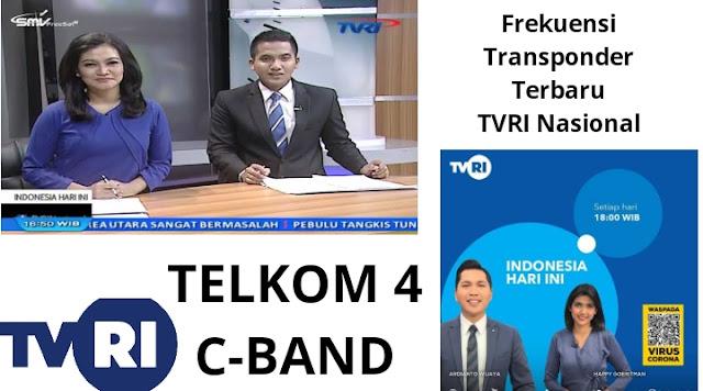 Transponder Frekuensi TVRI Nasional, TVRI Kanal 3, TVRI Sport HD, FTA Telkom 4 Terbaru Mpeg2 dan Mpeg4 C-Band dan Ku-Band