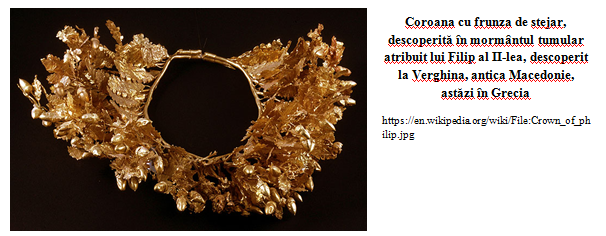 Coroana descoperita la Verghina, Grecia