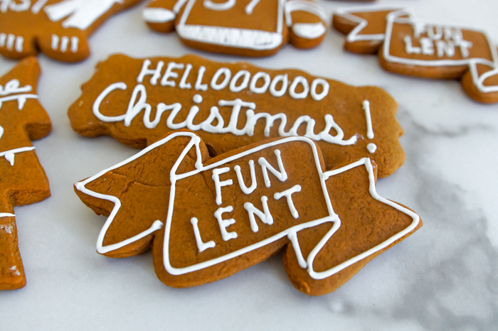 "The Catholic Guy Show Gingerbread Cookies, ""fun lent"""