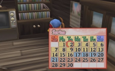 Calendar of Event - Harvest Moon: Save the Homeland