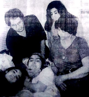 Richa Sharma Dutt with her parents and daughter