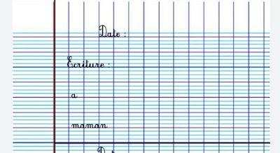 """كراسة الخط للمستوى الثالث """"فرنسية """""""