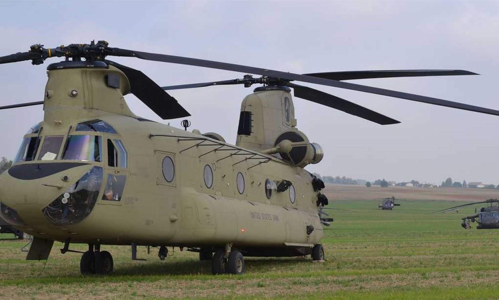 India menerima empat helikopter Chinook pertama dari AS