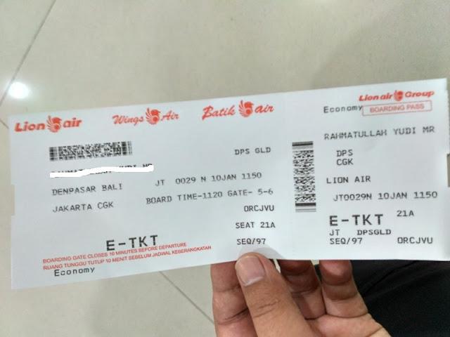 Tiket pesawat Bali Jakarta dengan Lengkap dan Mudah