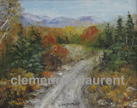 Around Maria, Gaspesie, Quebec - 8 x 10 fall scenery painting by Clemence St. Laurent
