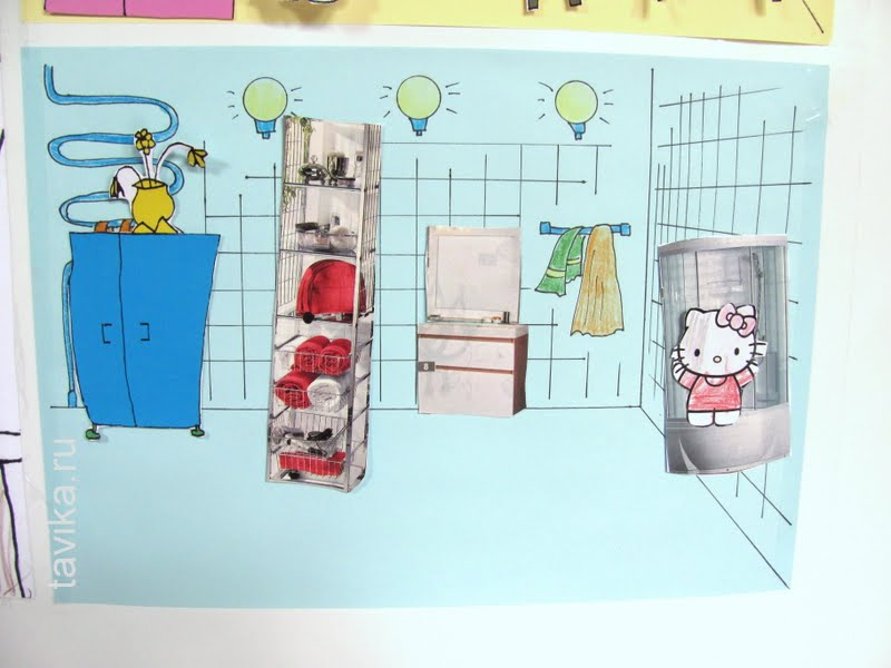как сделать игрушечный домик на холодильник