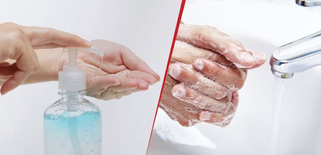 "Hand sanitizer to protect against ""Corona virus"" and soap to eliminate it"