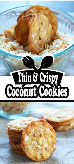 Thin & Crispy #GlutenFree Coconut #Cookies