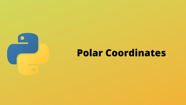 HackerRank Polar Coordinates solution in python