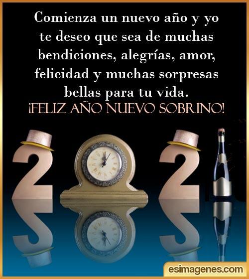 Feliz año Nuevo 2021 sobrino