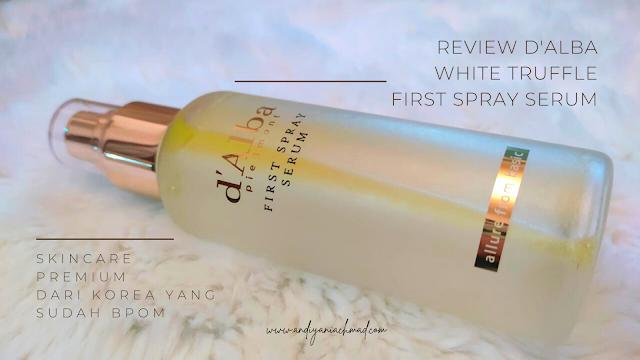 d'Alba White Truffle First Spray Serum, Skincare Premium dari Korea yang Sudah BPOM