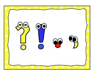 Charlotte's Clips and Kindergarten Kids: Punctuation Freebie
