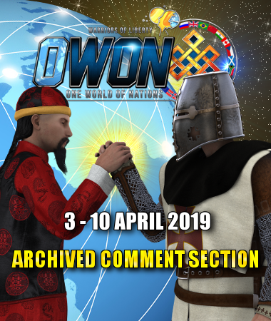 Archived Comment Section | 3 to 10 April 2019 - One World of Nations