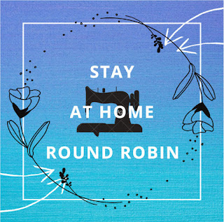 stay at home round robin button in aqua