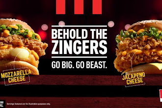 KFC Zinger Cheezilla & Zinger Stacker Are Superb!