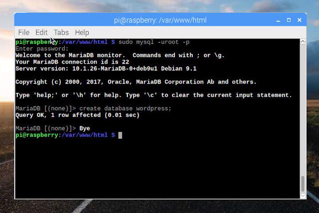Installing MariaDB on Raspbian