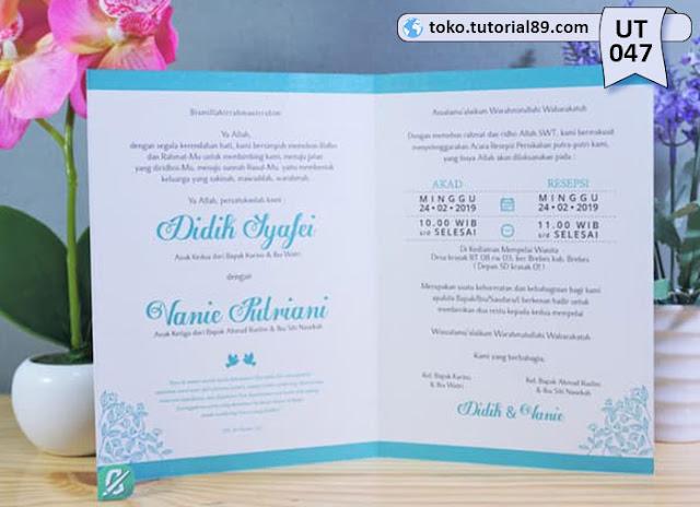 Undangan pernikahan UT047 - Seimpel Lipat 2 +free kartu ucapan terima kasih