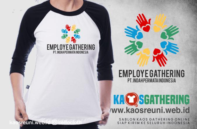 Sablon Kaos Employe Gathering Perusahaan - Kaos Family Gathering - Kaos Employe Gathering
