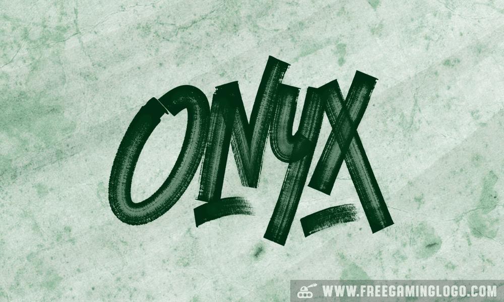 Onyx hand lettering signature design
